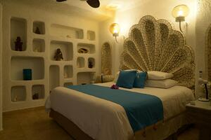 TPIs Club Cascadas bedroom in Cabo San Lucas, Mexico