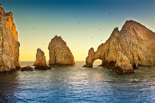 TPI resort goers can sightsee El Finisterra and El Arco in Cabo San Lucas, MX
