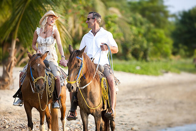 TPI resort guests can go horseback riding on the coast in Cabo San Lucas, MX