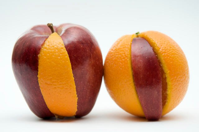 Trading Places perfect timeshare swap like apple and orange slices swapped in whole fruits